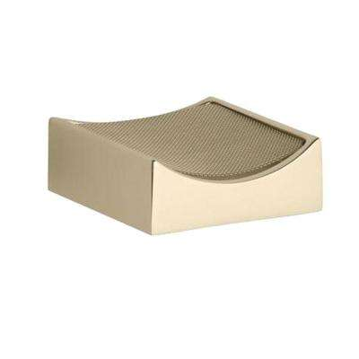 Optional Drip Tray with Removable Screen in Vibrant French Gold