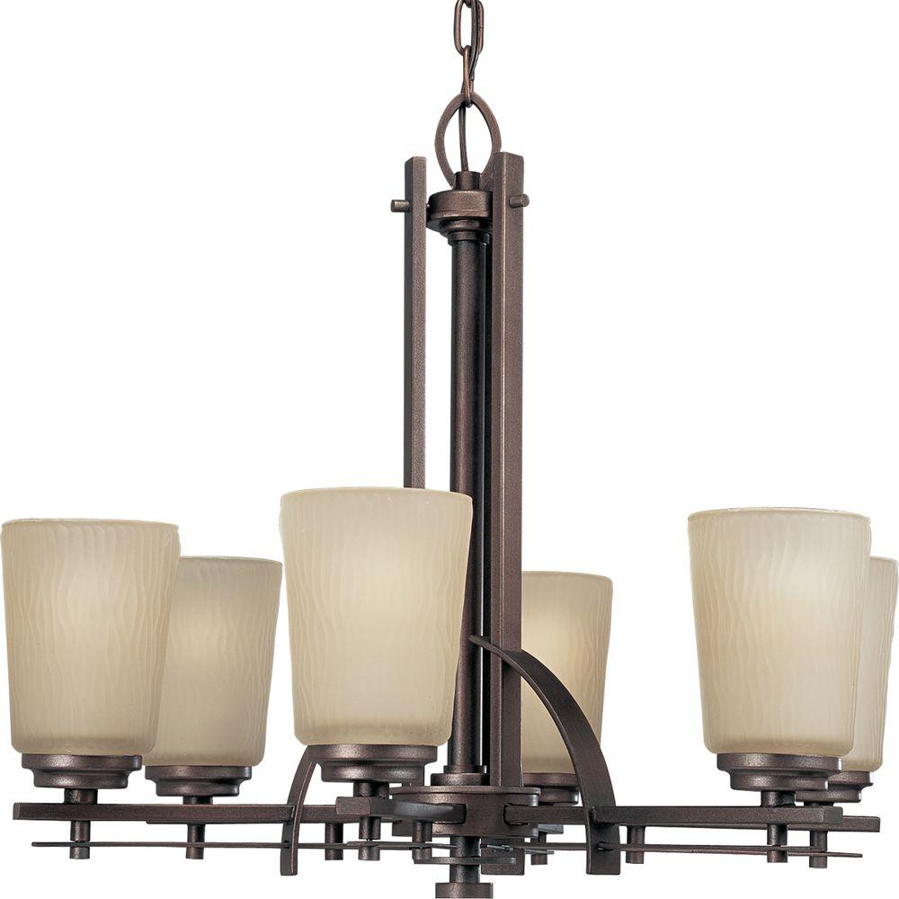 Progress Lighting Riverside Collection 6-Light Heirloom Chandelier