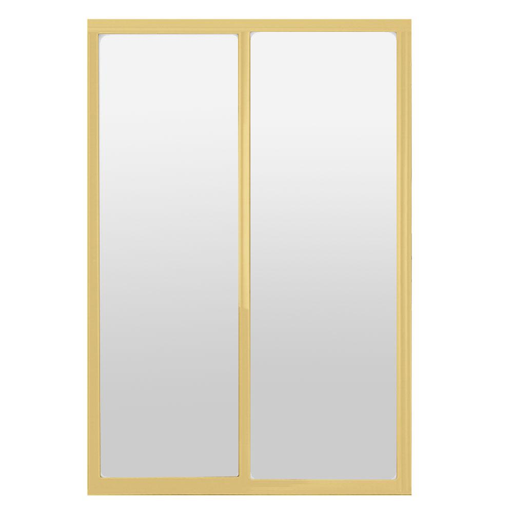 72 in. x 81 in. Silhouette 1-Lite Mystique Glass Bright Gold