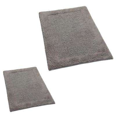 Stone 20 in. x 30 in. and 21 in. x 34 in. Naples Bath Rug Set (2-Piece)