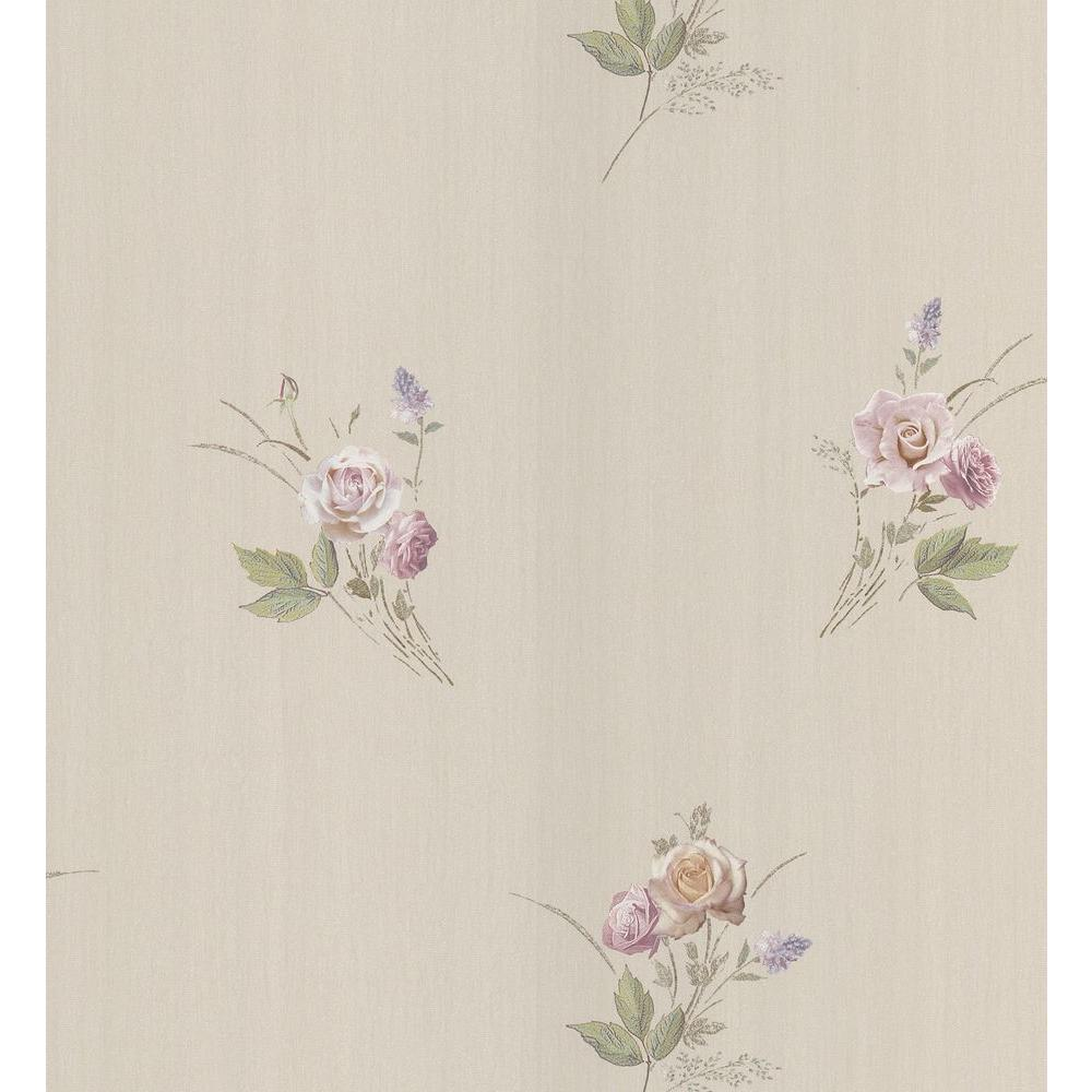 Brewster 56 sq. ft. Rose Wallpaper