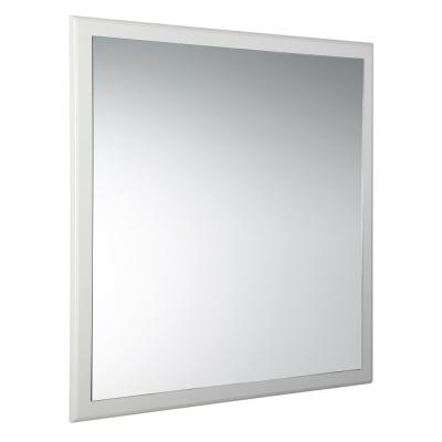 Oxford 32.00 in. W x 32.00 in. H Framed Square Bathroom Vanity Mirror in Antique White