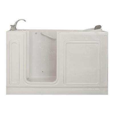 Acrylic Standard Series 60 in. x 32 in. Left Hand Walk-In Whirlpool Tub with Quick Drain in White