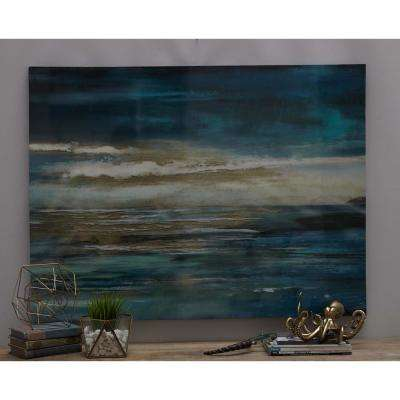 "36 in. x 47 in. ""The Horizon"" Printed Framed Canvas Wall Art"