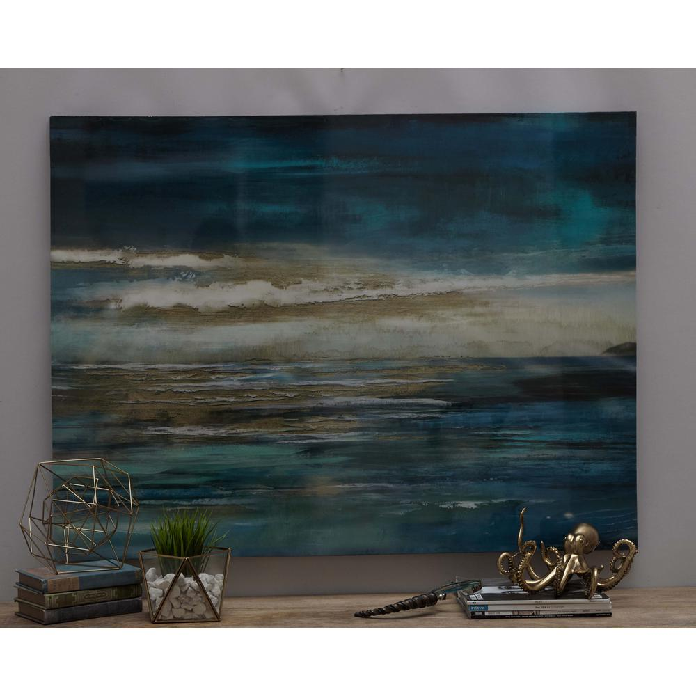 "36 in. x 47 in. ""The Horizon"" Printed Framed Canvas Wall"