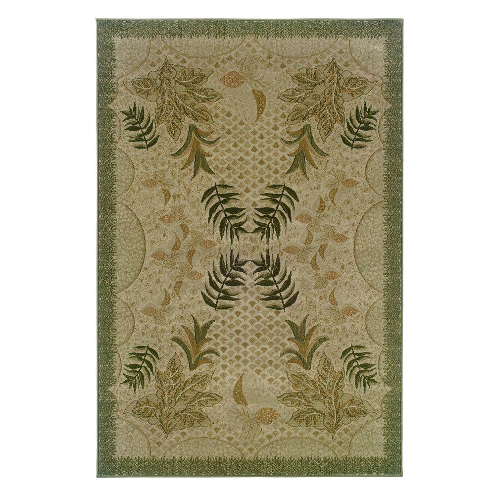 Natco Stratford Bouquet Beige 9 ft. 6 in. x 12 ft. 10 in. Area Rug