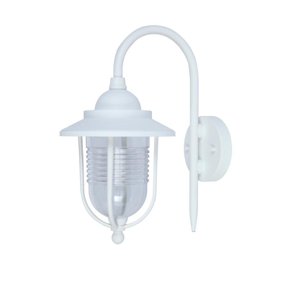 Home Decorators Collection 1 Light White Outdoor Wall