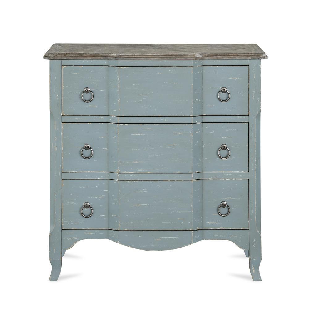 D/écor Therapy Antique Teal 3 Drawer Chest