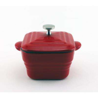 Square Cast Iron Mini Casserole Dish with Lid