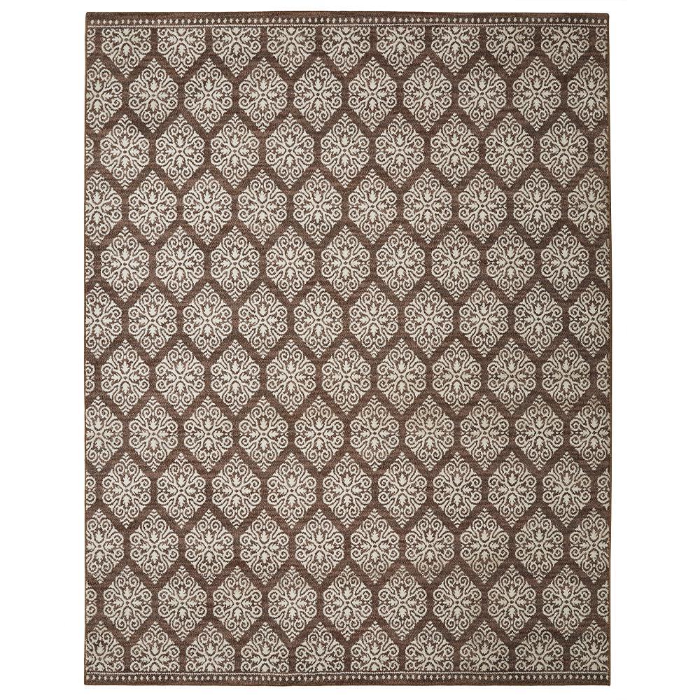 Home Decorators Collection Taurus Dark Khaki Cream 8 Ft X 10 Area Rug
