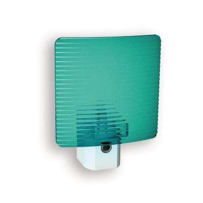 Teal Wave Translucent Screen Automatic LED Night Light