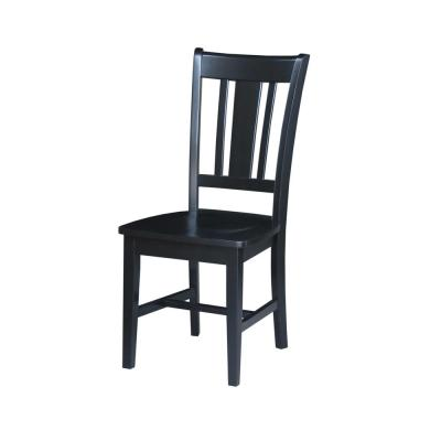 San Remo Black Wood Dining Chair (Set of 2)