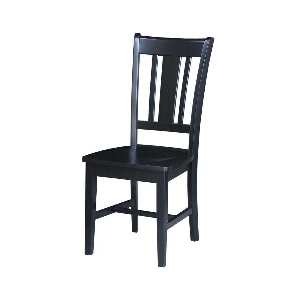 San Remo Black Wood Dining Chair Set Of 2