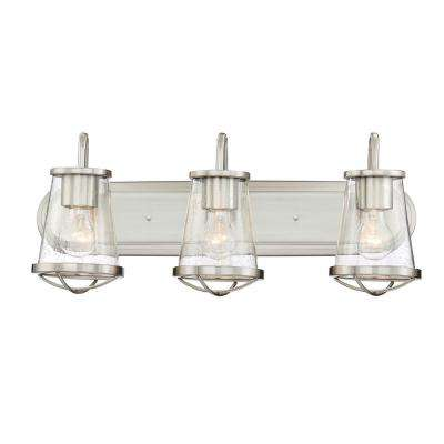 Darby 3-Light Satin Platinum Interior Bath Bar Light
