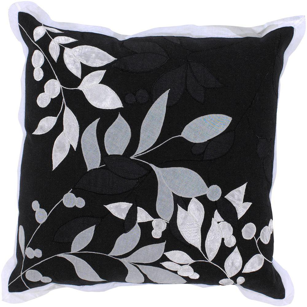Artistic Weavers LeavesB3 18 in. x 18 in. Decorative Down Pillow-DISCONTINUED