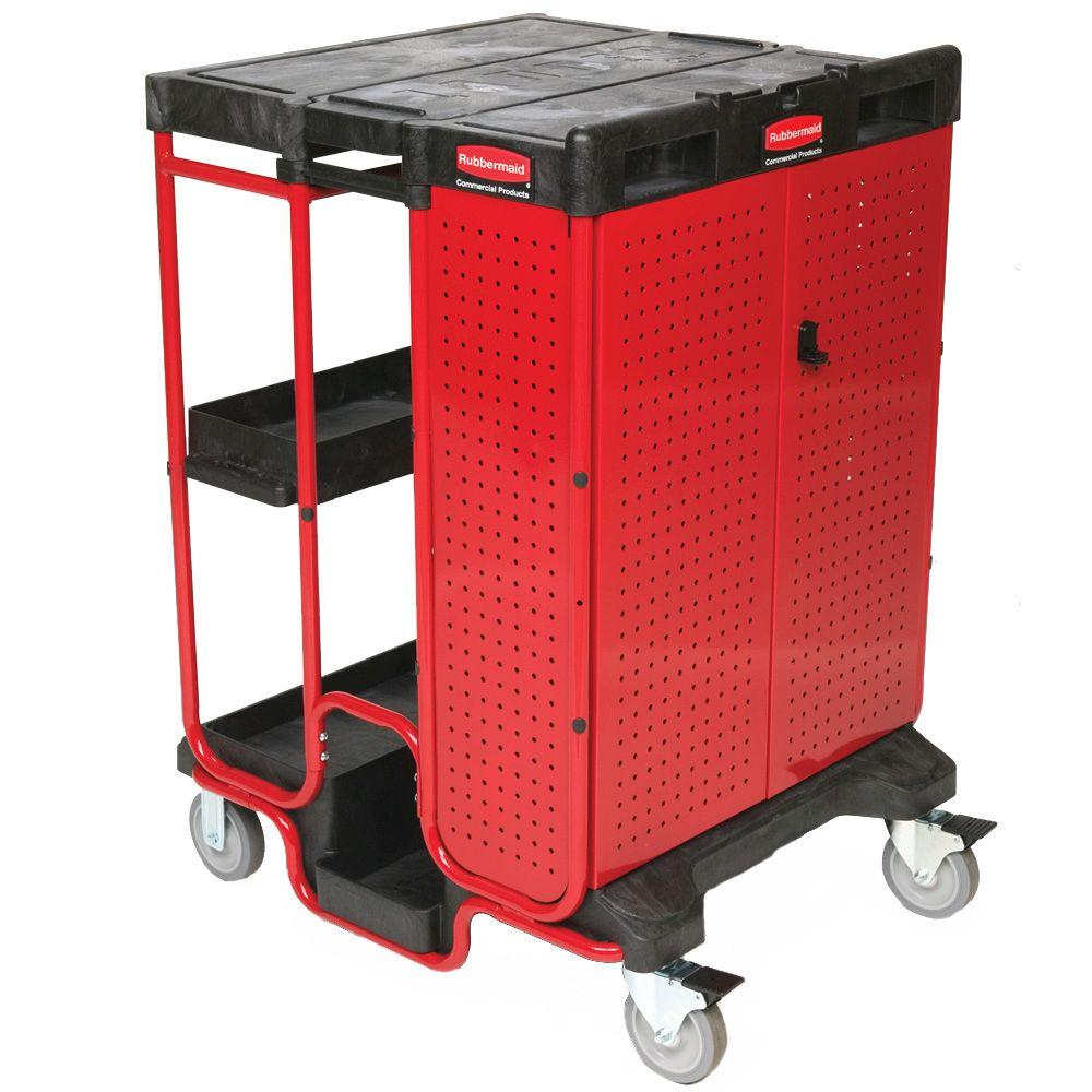 Rubbermaid Commercial Products Ladder Cart With Cabinet
