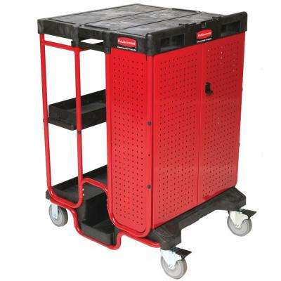 Rubbermaid Commercial Products Ladder Cart with Cabinet by Rubbermaid Commercial Products