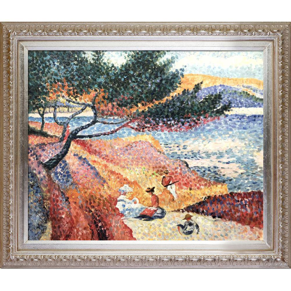 LA PASTICHE The Bay at Cavaliere with Elegant Champagne Frameby Henri-Edmond Cross Oil Painting, Multi-Colored was $1037.0 now $403.23 (61.0% off)
