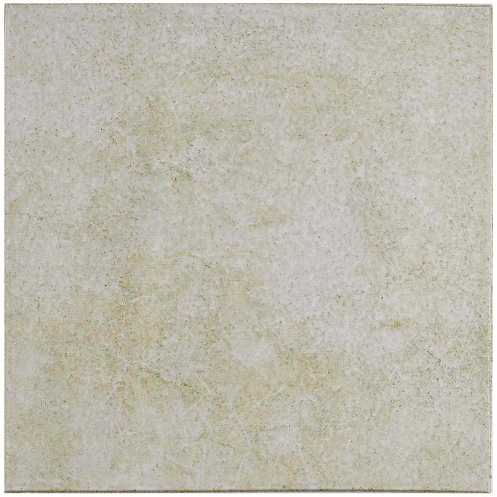 Klinker Retro Blanco Encaustic 12-3/4 in. x 12-3/4 in. Ceramic Floor and Wall Quarry Tile