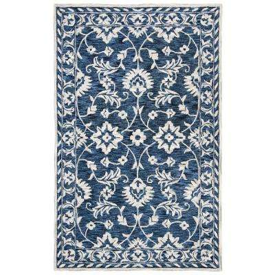 Micro-Loop Navy/Taupe 5 ft. x 8 ft. Area Rug