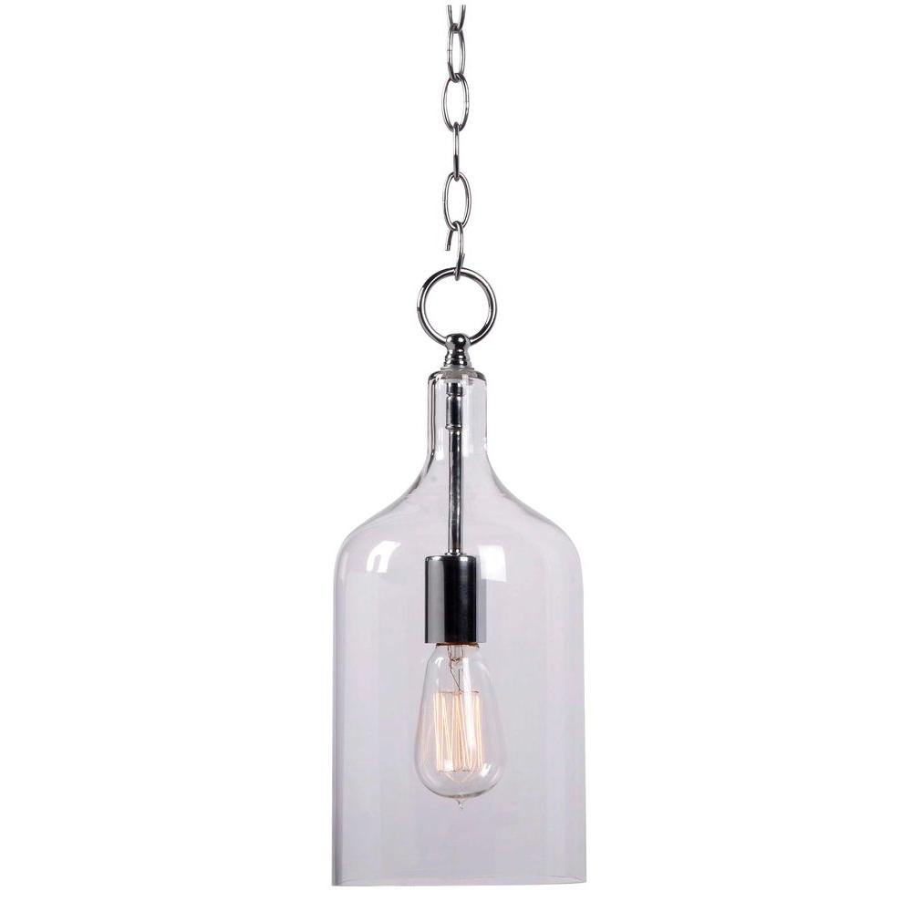 Good Capri 1 Light Clear Glass Mini Pendant