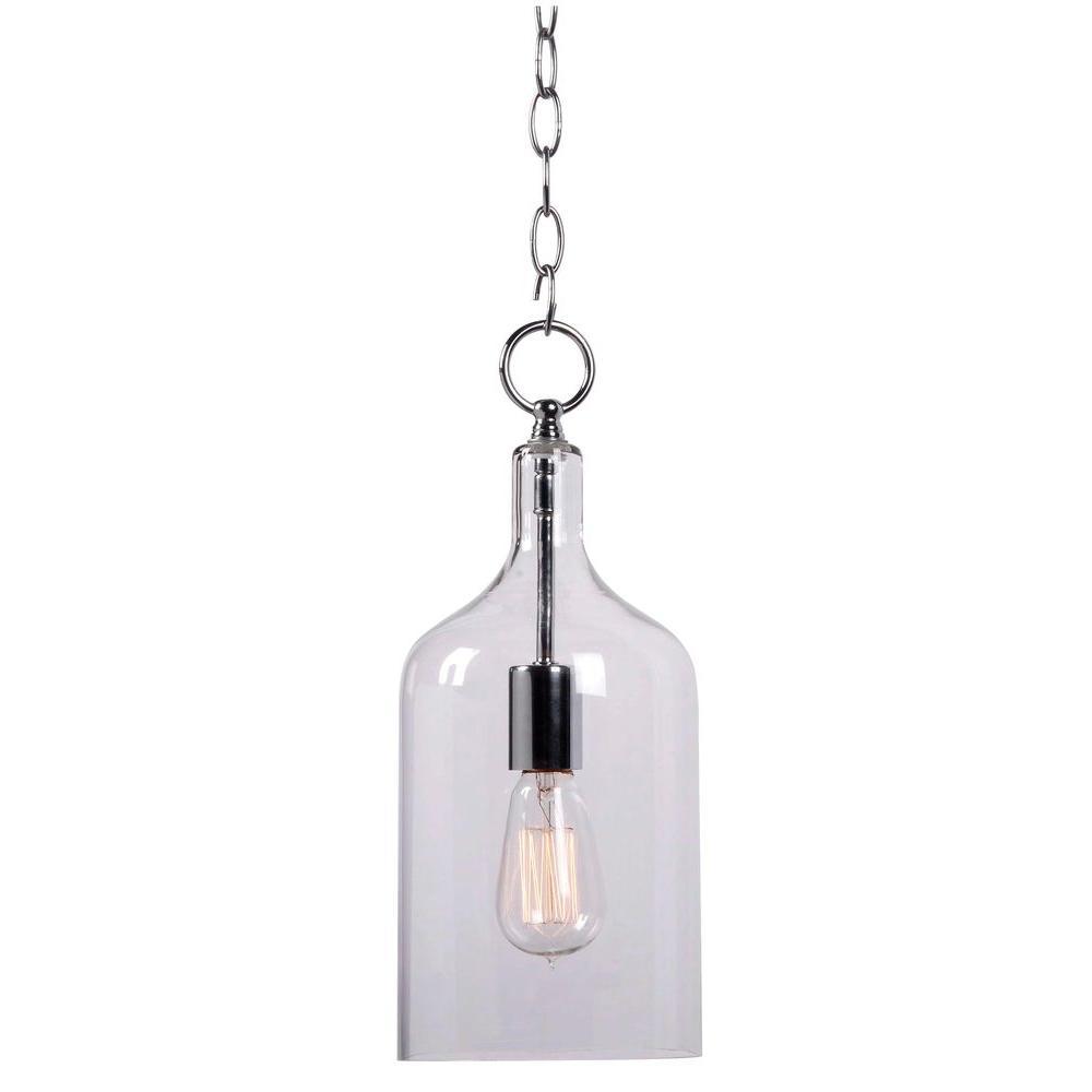 Capri 1-Light Clear Glass Mini Pendant