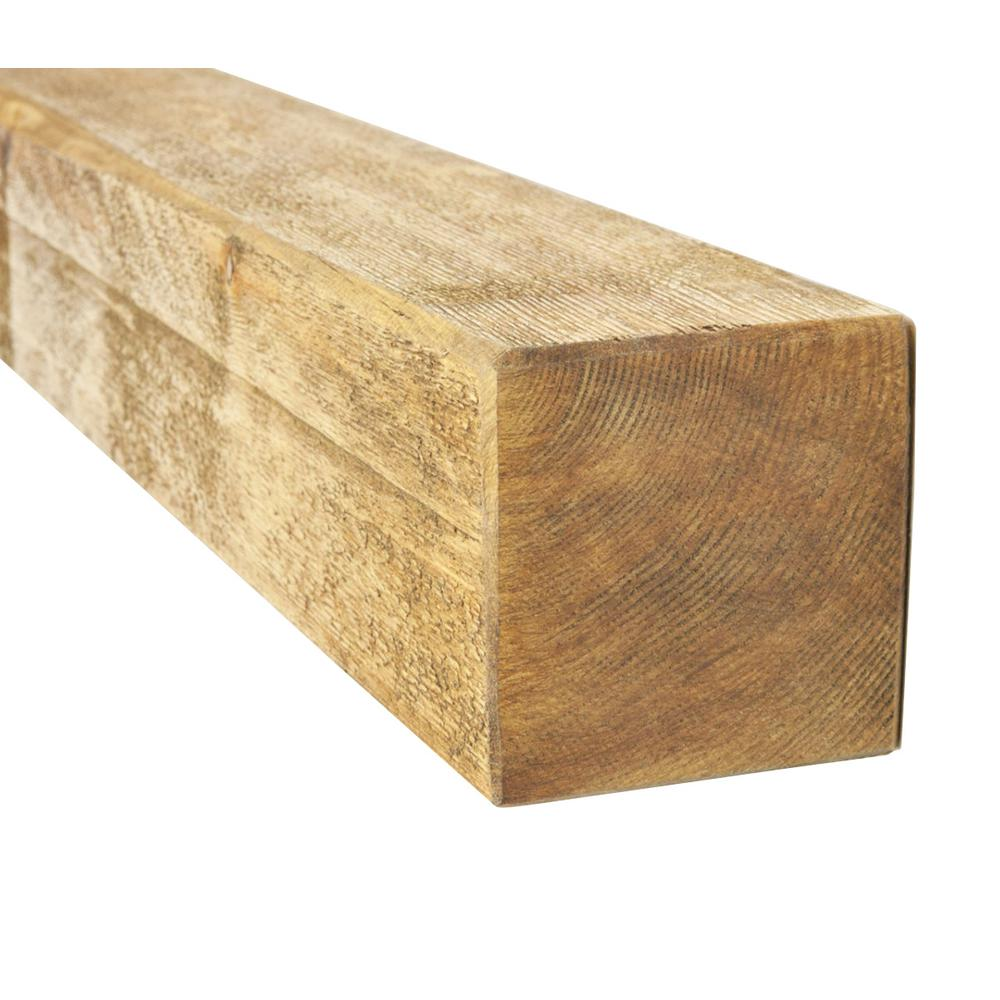null 4 in. x 4 in. x 8 ft. #2 and Better Kiln Dried Douglas Fir Lumber