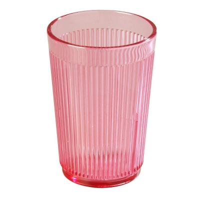 8 oz. SAN Plastic Tumbler in Rose (Case of 48)