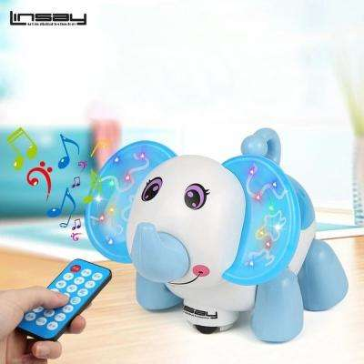 Baby Elephant Smart Toy Led Light - Blue