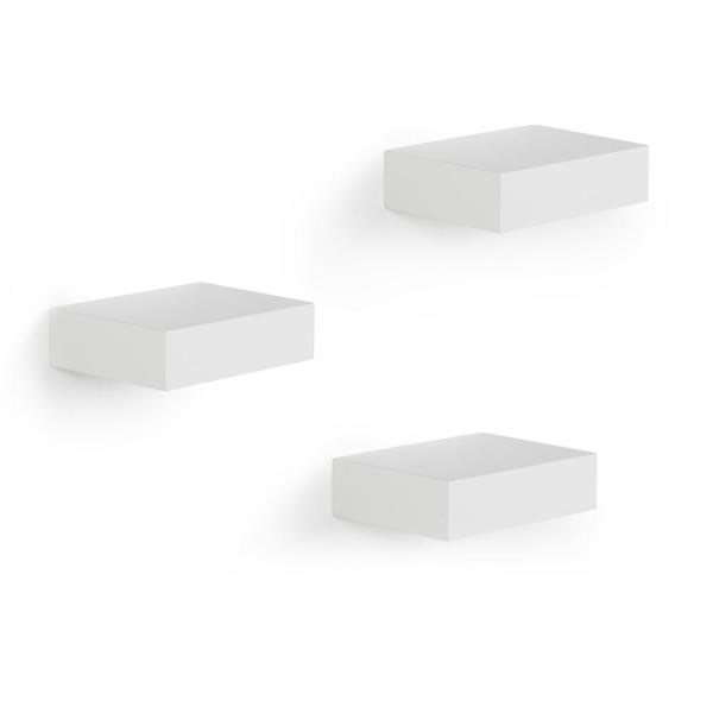 Umbra 10.3 in. x 1.14 in. White Showcase 3-Shelves