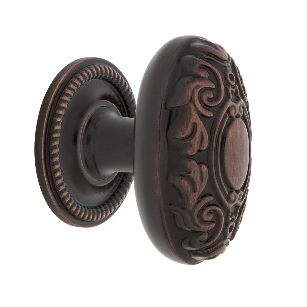 Nostalgic Warehouse Victorian 1-3/4 in. Timeless Bronze Brass Cabinet Knob with Rope Rose