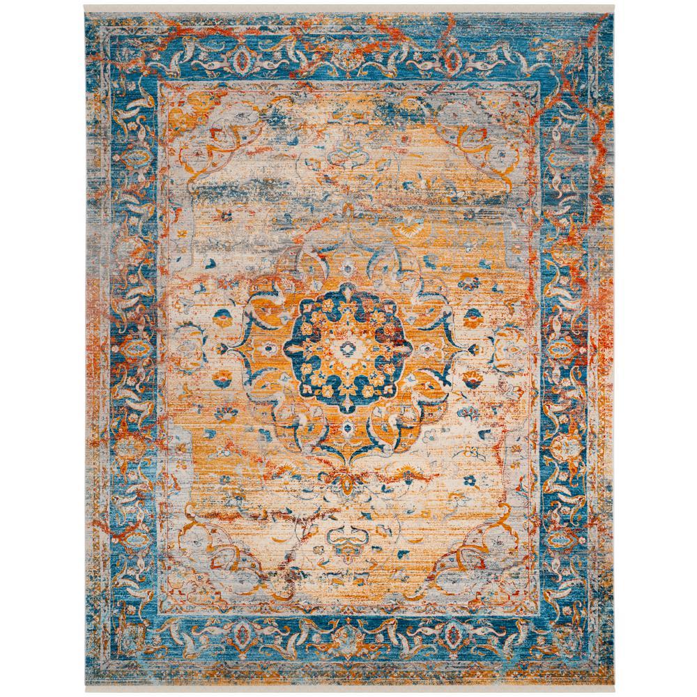 Vintage Persian Blue Multi 8 Ft X 10 Area Rug