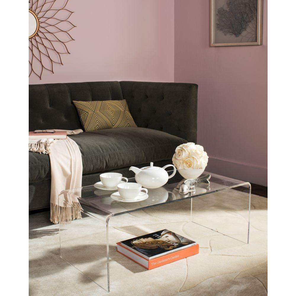 Atka 36 in. Clear Medium Rectangle Acrylic Coffee Table