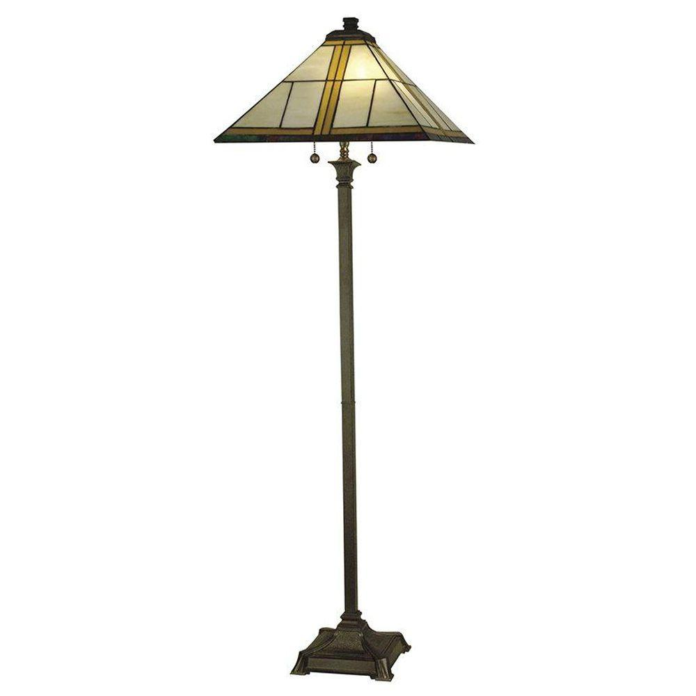 Dale Tiffany Simplicity Mission 65 in. Antique Bronze Floor Lamp