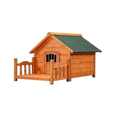 2.6 ft. L x 2.5 ft. W x 2.1 ft. H Medium Porch Pups Dog House