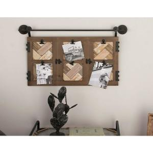 Click here to buy  6-Openings 29 inch W x 17 inch H Matte Brown and Metallic Black Picture Frame.