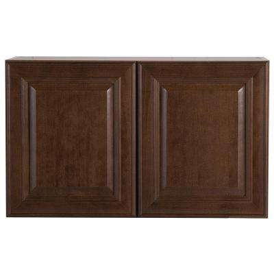Benton Assembled 30x18x12 in. Wall Cabinet in Butterscotch