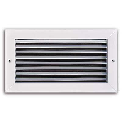 10 in. x 6 in. White Fixed Bar Return Air Grille