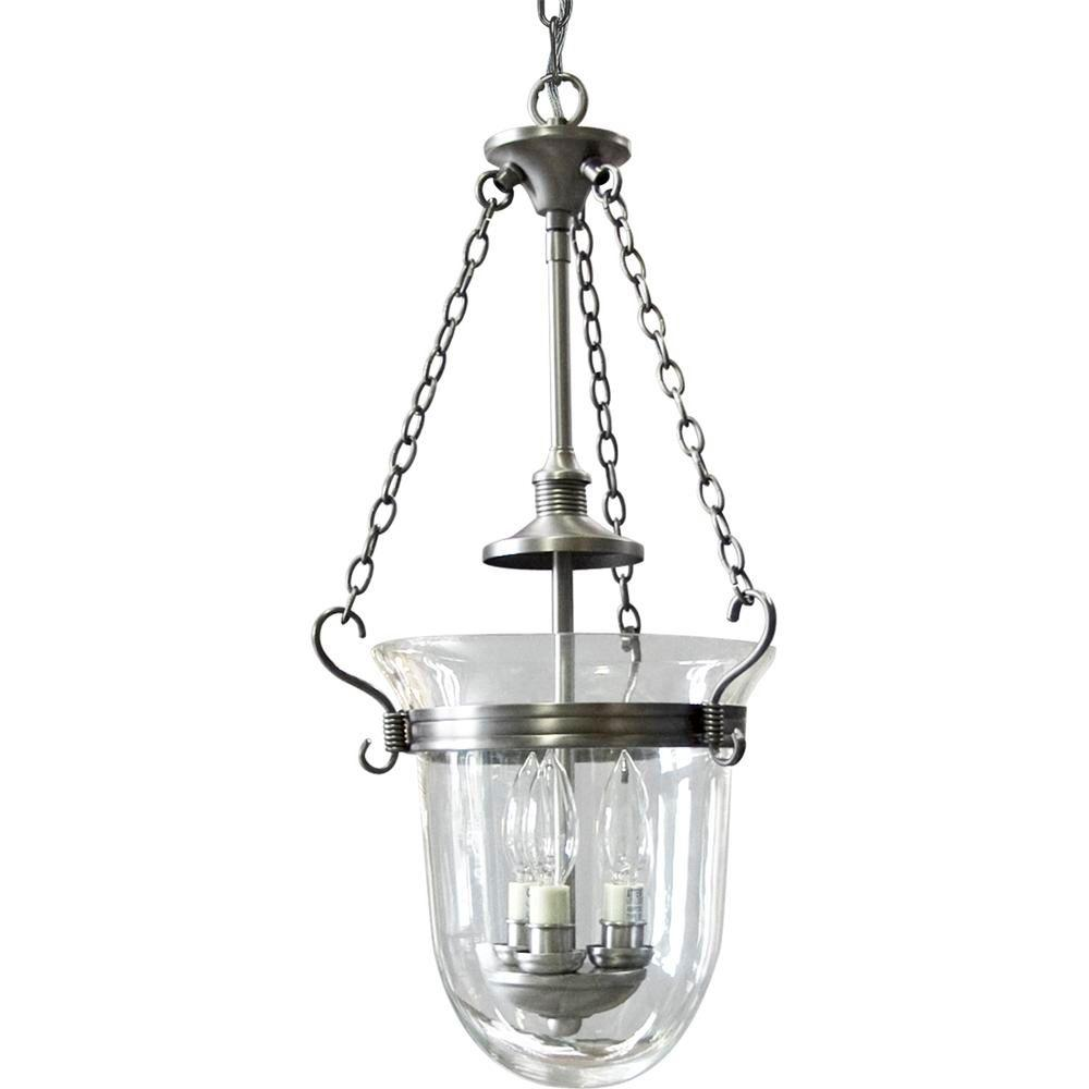 Progress Lighting Essex Collection 3-Light Antique Nickel Foyer Pendant