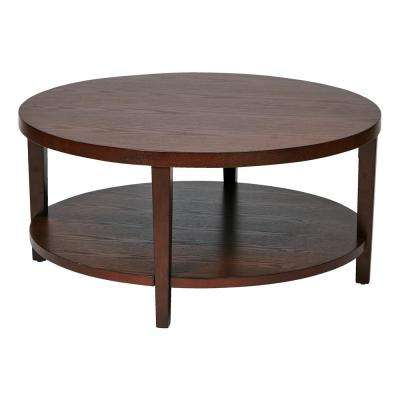 Merge 36 in. Mahogany Round Coffee Table