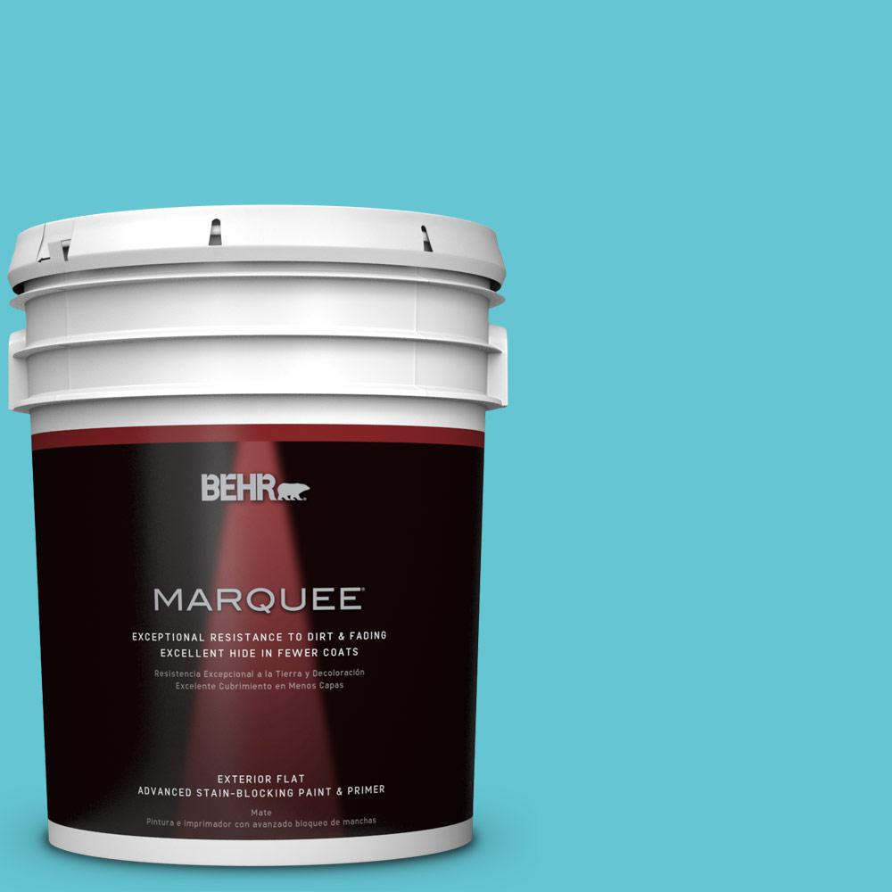 BEHR MARQUEE 5-gal. #P470-4 Paradise Sky Flat Exterior Paint
