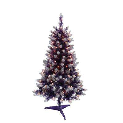 4 ft. Pre-Lit Fashion Purple Pine Artificial Christmas Tree with 150 UL-Listed Clear Lights