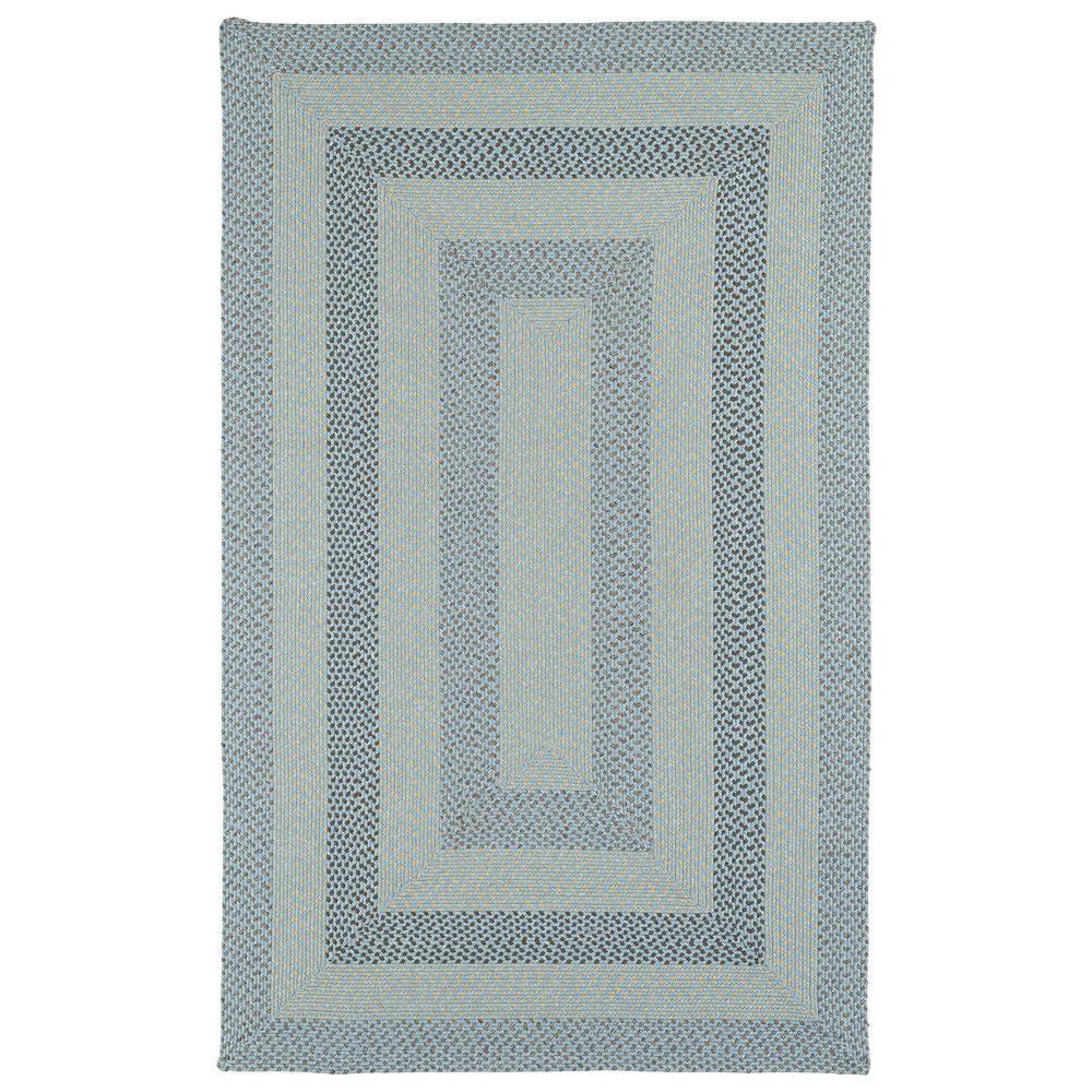 Kaleen bimini blue 9 ft x 12 ft indoor outdoor area rug
