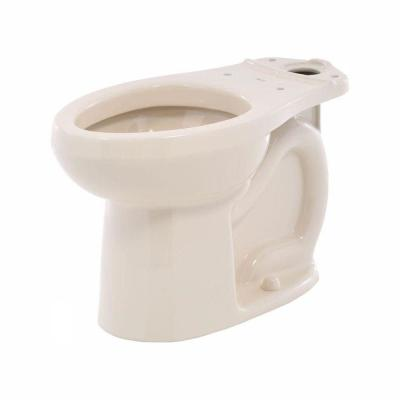 H2Option Siphonic Dual Flush Chair Height Elongated Toilet Bowl Only in Bone