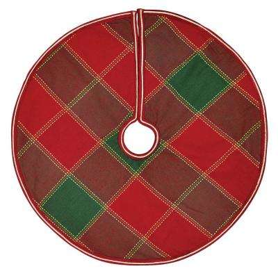 21 in. Tristan Cherry Red Traditional Christmas Decor Mini Tree Skirt
