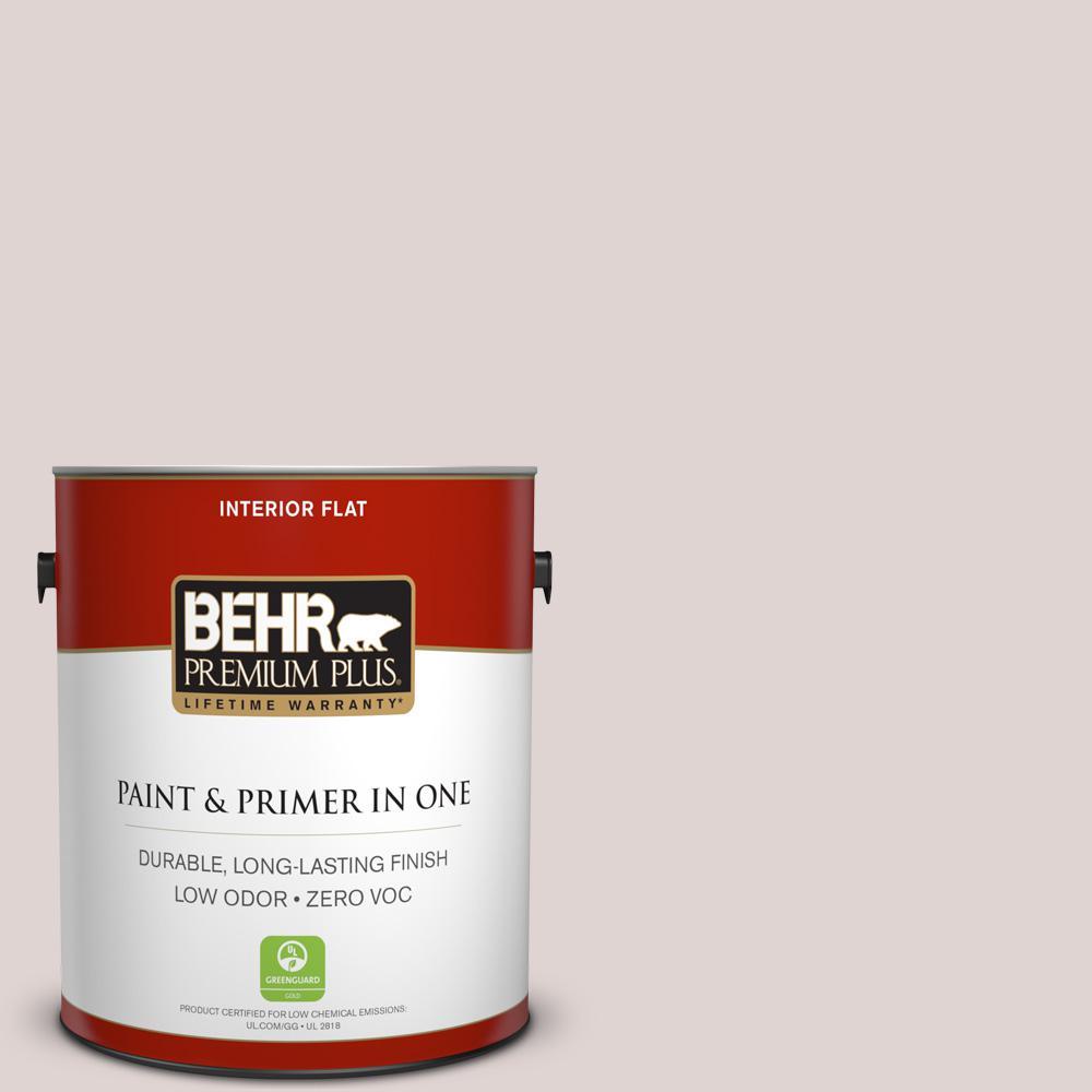 1 gal. #N170-2 Rose Pearl Flat Zero VOC Interior Paint and