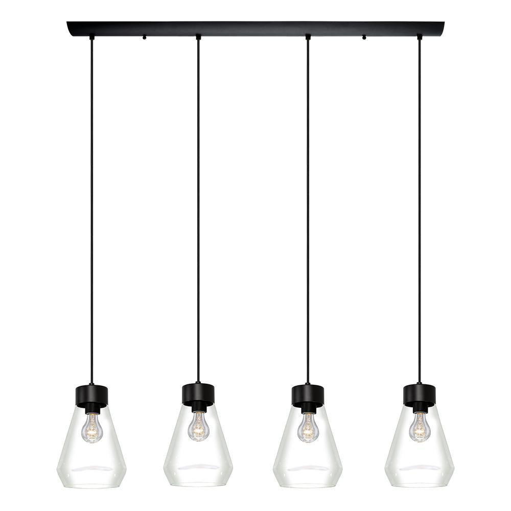 Montey 4-Light Black Pendant