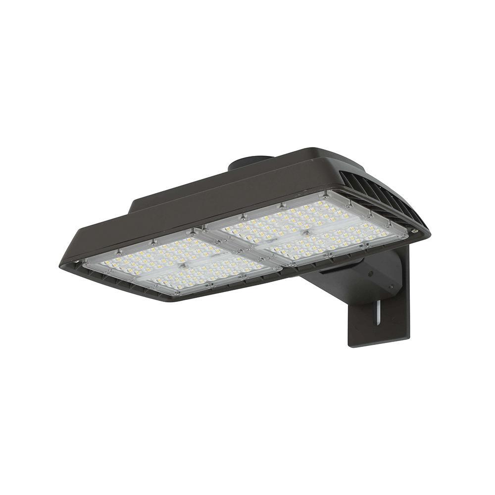 100-Watt Bronze Outdoor Integrated LED  Commercial High Output Flood Light, 13500 Lumens