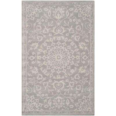 Bella Grey/Silver 8 ft. x 10 ft. Area Rug