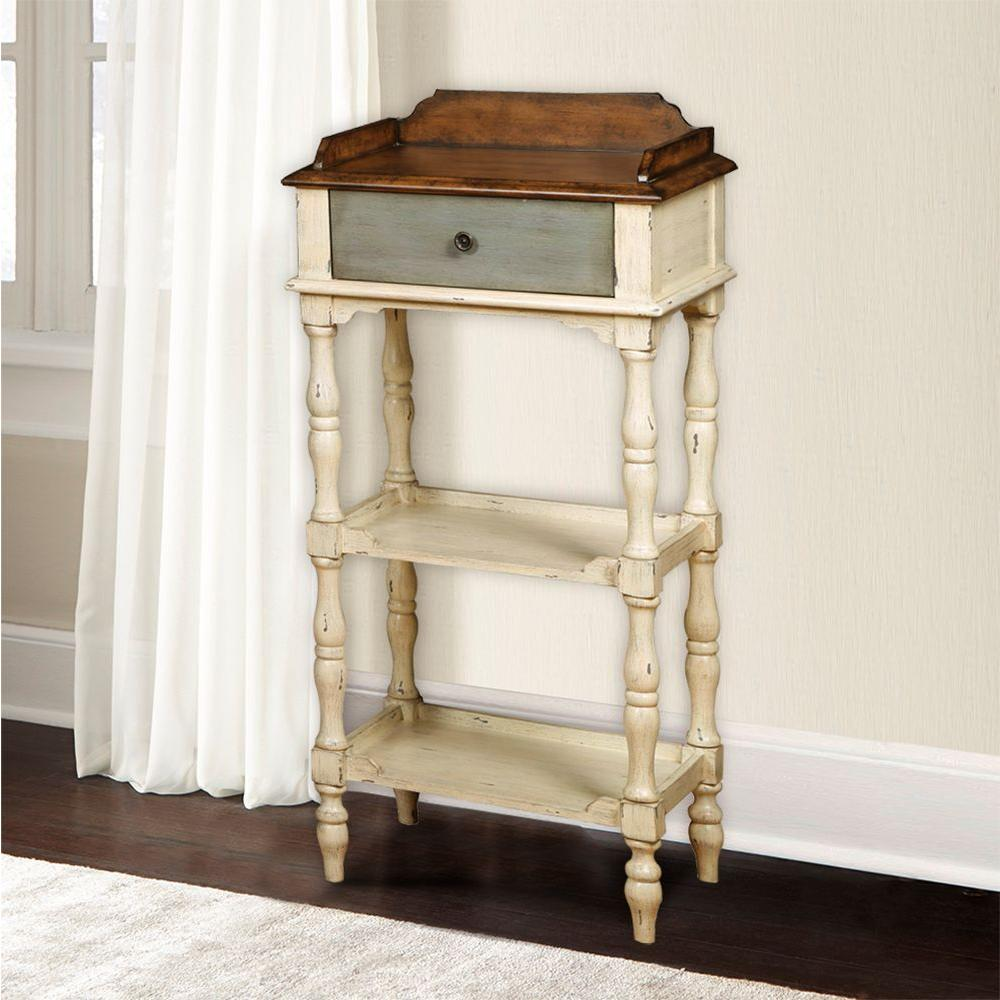 Home Decorators Collection Oxford White 1-Drawer End Table ...